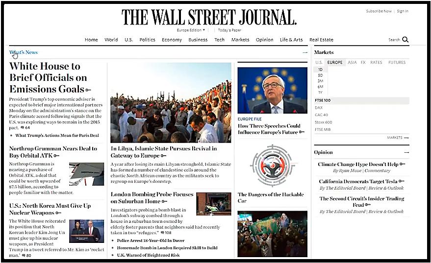 Utilisateur cybersécurité Wall Street Journal
